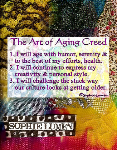 The Art of Aging Creed by Sophie Lumen